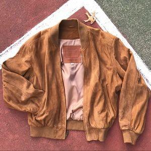 Amazing Vintage Leather Coach Bomber